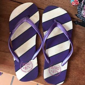Aeropostale flip flops purple size 6/7
